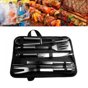 BBQ Tools Stainless Steel Grilling Set (10 pcs Set)