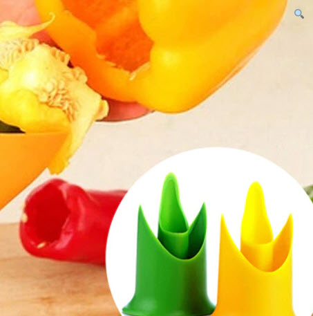 Bell Pepper Seed Remover And Slicer