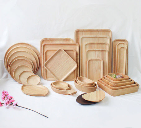 Japanese Rubber Wood Plates