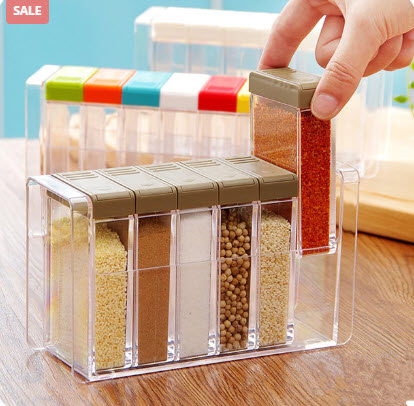 6-Grids Seasoning Containers